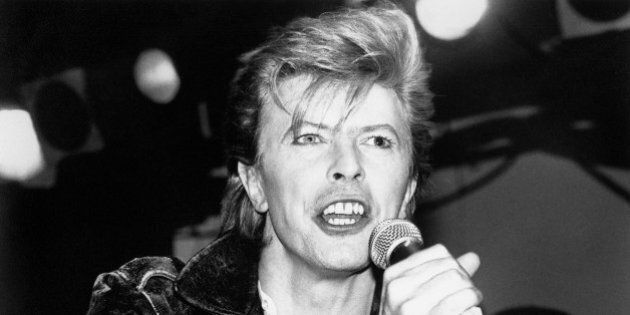 David Bowie pictured performing at The Cat Club in March of 1987 in Hollywood, California. © RTNGershoff...