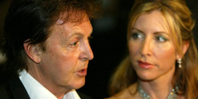 **FILE** Former Beatle Paul McCartney and his wife Heather Mills McCartney attend a benefit gala for...