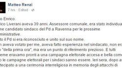 Renzi ricorda Liverani su Facebook. Insulti e sfottò tra i