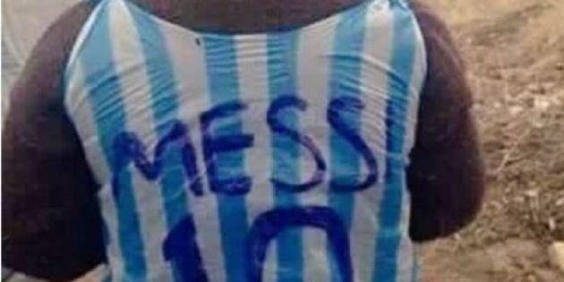 La storia felice del bambino con la maglia di Messi