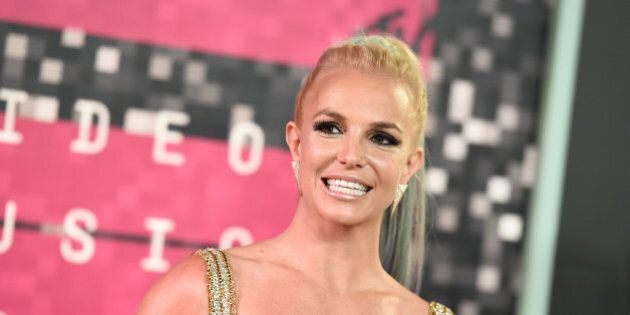 Britney Spears arrives at the MTV Video Music Awards at the Microsoft Theater on Sunday, Aug. 30, 2015,...
