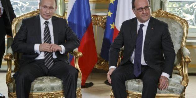 Terrorismo, i tour paralleli di Francois Hollande e Vladimir Putin, alleati di fatto nella lotta