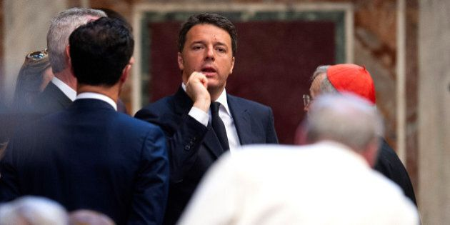 VATICAN CITY, VATICAN - MAY 06: Italian Prime Minister Matteo Renzi attends the Charlemagne Prize of...