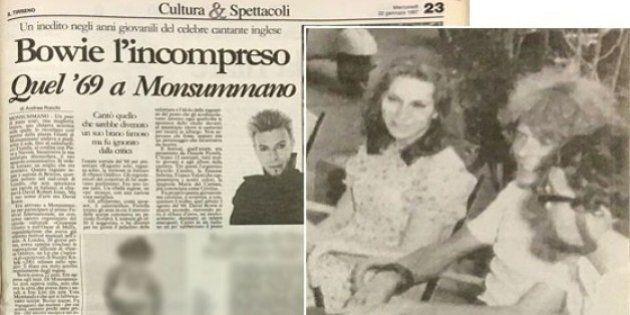 David Bowie al Festival di Monsummano nel 1969 arrivò