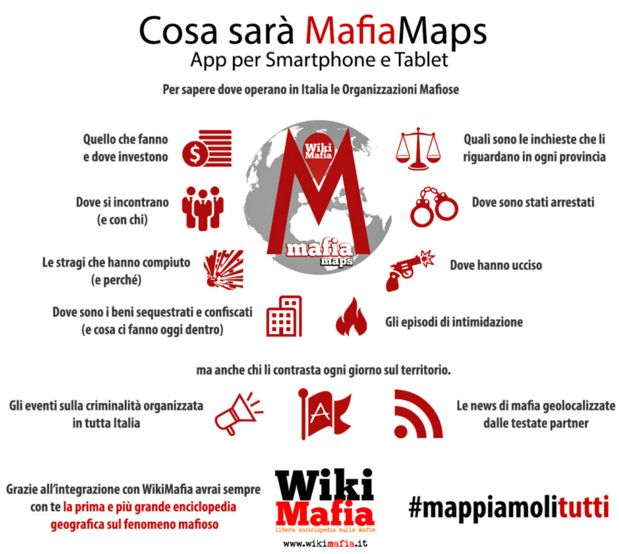 MafiaMaps, la prima mappatura del fenomeno mafioso in Italia in una app nata da un gruppo di studenti...