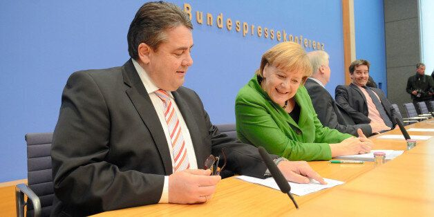 BERLIN, GERMANY - NOVEMBER 27:  (CHINA OUT, SOUTH KOREA OUT) German Chancellor and Chairwoman of the German Christian Democra