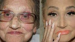 Il make up di questa nonna sta facendo esplodere il