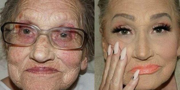 Il counturing di questa nonna ha rotto