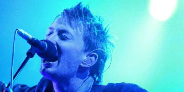Thom Yorke, lead singer of Radiohead performs at the GlastonburyFestival in Somerset, June 28, 2003....