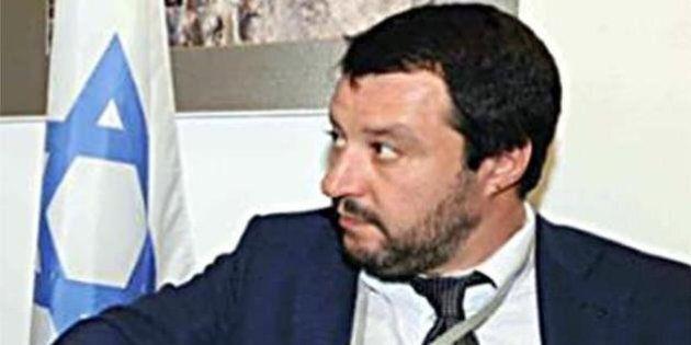 Matteo Salvini in Israele incontra gli esponenti del Knessett in giacca e