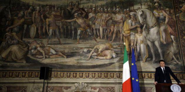 Italian Premier Matteo Renzi speaks at the
