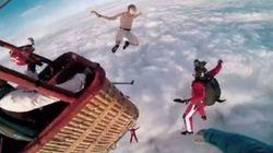Si lancia dalla mongolfiera senza paracadute. E si