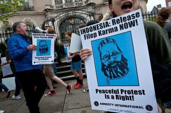 Filep Karma, an advocate for the rights of Indonesia's Papuan population, was reportedly arrested in 2004 for treason after h