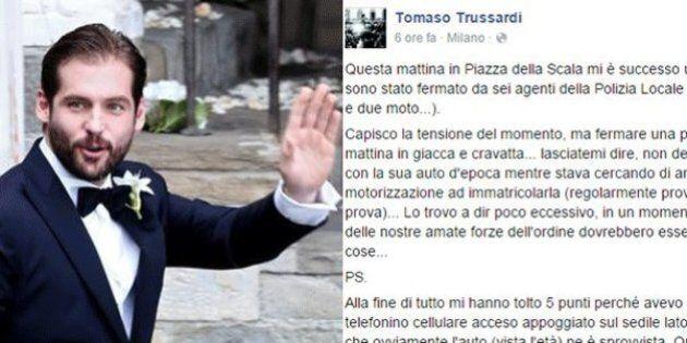 Tomaso Trussardi fermato dalla Polizia: