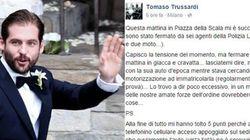 Polizia ferma Trussardi, lui si indigna: