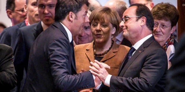 Il massimo di Renzi per Hollande: aiuto militare, ma in Africa o in Libano. Come Merkel. Premier all'Eliseo...