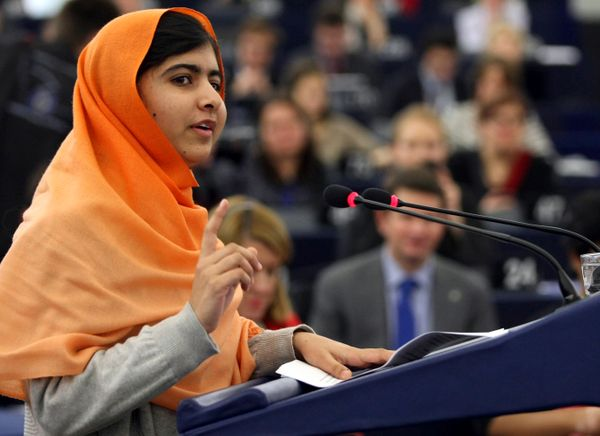 The courageous 16-year-old Pakistani schoolgirl bravely stood up to the Taliban's practice of banning girls from school and s