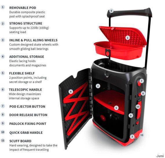 I maniaci dell'ordine ameranno questa valigia. L'idea finanziata su IndieGogo diventa realtà (FOTO,
