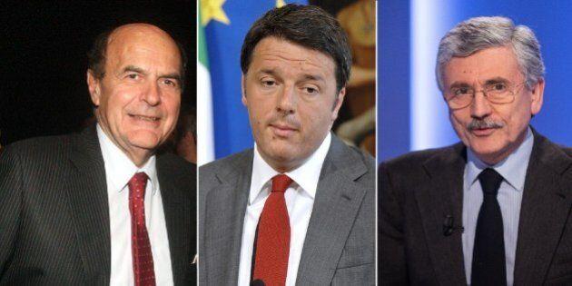 Massimo D'Alema e Pier Luigi Bersani a tenaglia su Renzi su tasse, disciplina di partito e