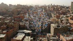 Il murales copre 40 palazzi: l'opera d'arte è