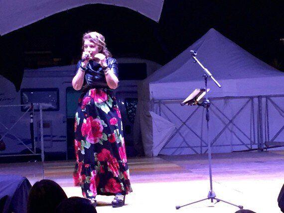 Cristina D'Avena in concerto a Villa Adriana: fa il pieno di pubblico alla festa patronale.