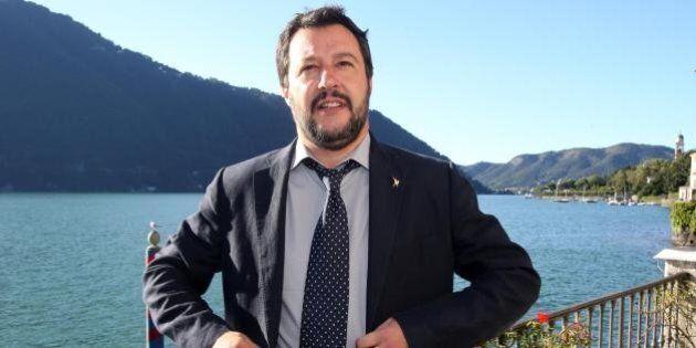 Matteo Salvini a Cernobbio rottama la ruspa: