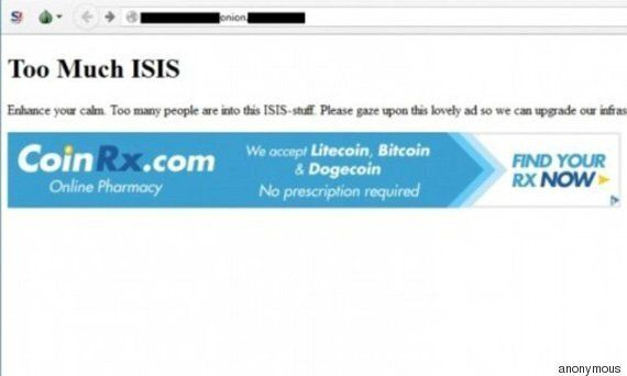 Anonymous hackera il sito dell'Isis sul Deep Web: online una schermata di un sito che vende Viagra e