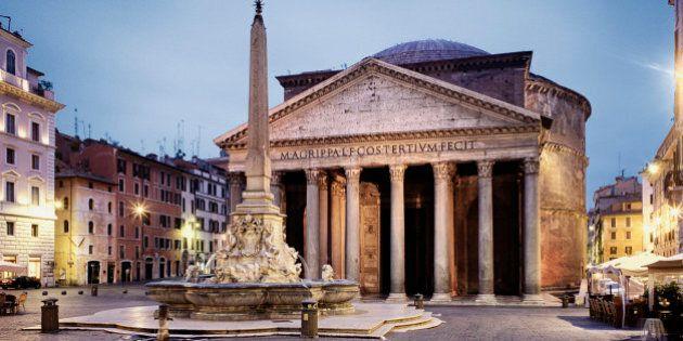 Pantheon ancient roman circular building, Rome, Roma, Mediterranean area, Latium, Lazio, Italy,