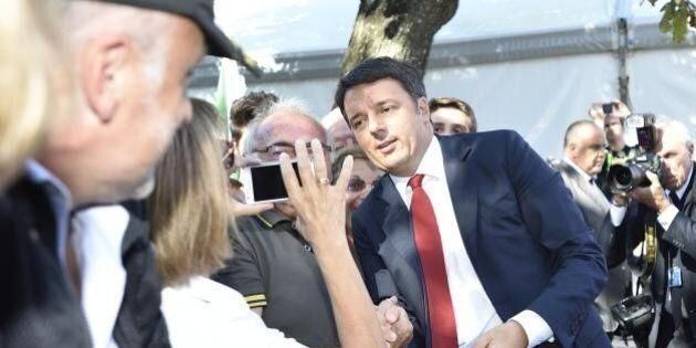 Matteo Renzi alla Festa dell'Unità: