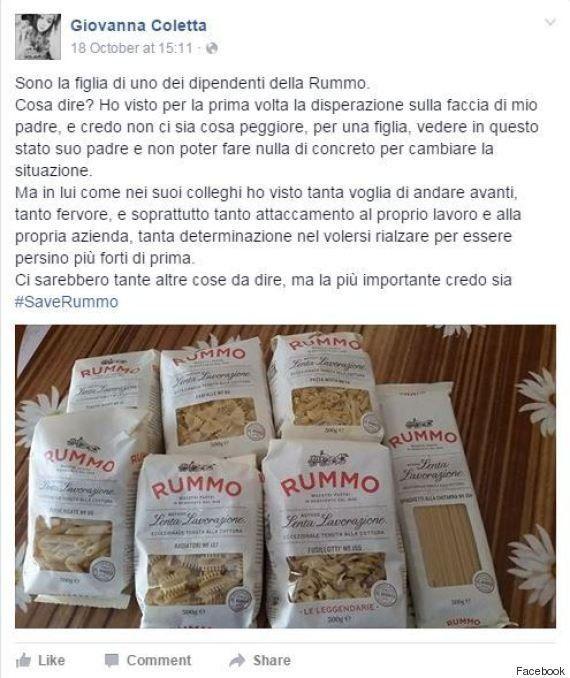 #SaveRummo, il pastificio beneventano fa sapere che la campagna social è partita dal basso