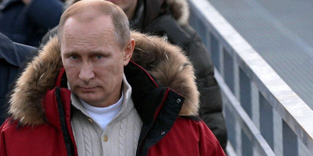 Russia's President Vladimir Putin visits the 'RusSki Gorki' Jumping Center at the Krasnaya Polyana resort near the Black Sea