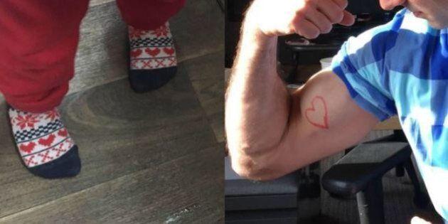 Bimbo preso in giro perché indossa calzini con i cuori rossi, su Twitter la solidarietà maschile: