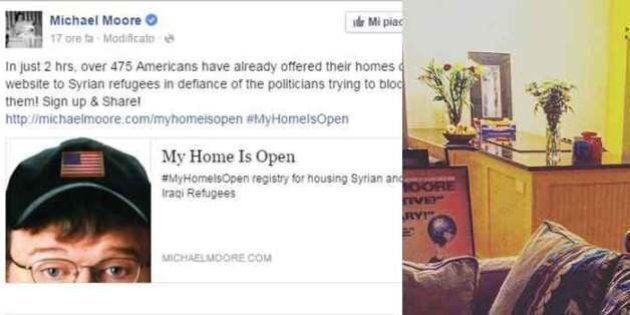 Michael Moore offre casa ai rifugiati siriani su Facebook: