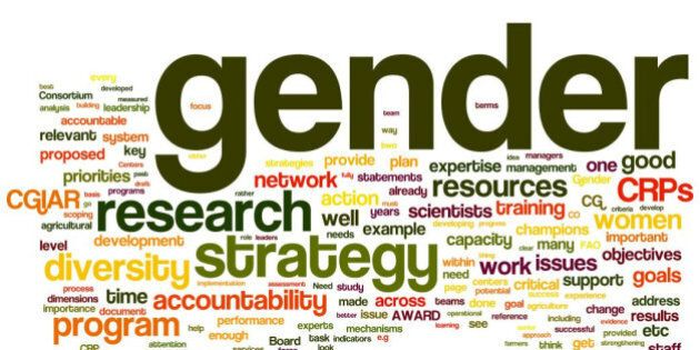 A 'tag cloud' snapshot of terms used most in a CGIAR Gender & Diversity e-consultation as of 24 Aug 2011...