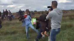 I profughi scappano, la reporter li sgambetta: licenziata