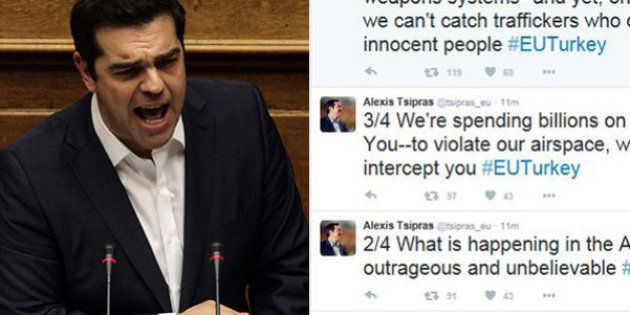Alexis Tsipras contro la Turchia su Twitter: