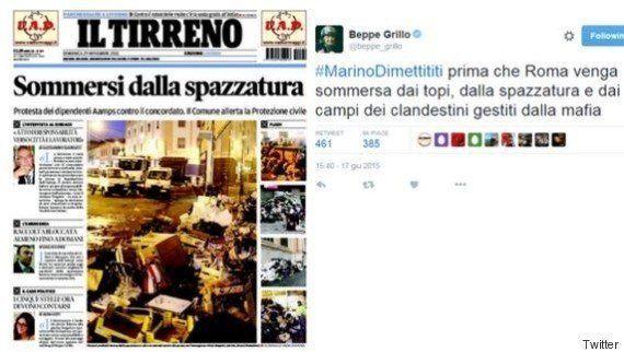 Quando Beppe Grillo chiedeva le dimissioni di Ignazio Marino per la spazzatura: