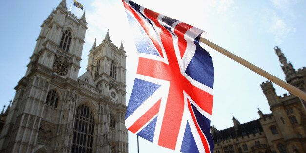 LONDON, ENGLAND - APRIL 27:  A Union Jack flies outside Westminster Abbey on April 27, 2011 in London, England. With only two