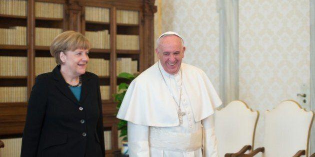 Papa Francesco e Angela Merkel,