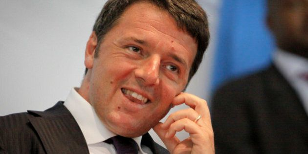Italy's Prime Minister Matteo Renzi gives a public lecture at the University of Nairobi in Kenya Wednesday,...