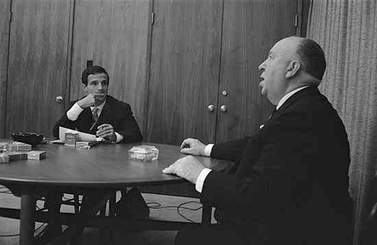 Le lunghe conversazioni tra Hitchcock e Truffaut, nelle fotografie di Philppe