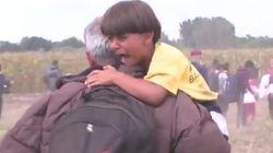 Le lacrime del bambino dopo lo