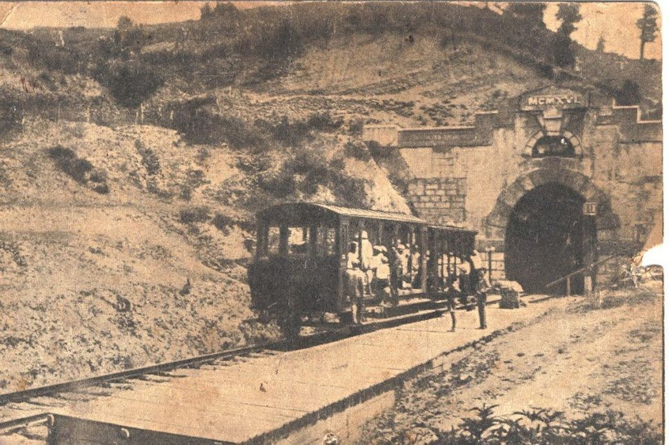 "Stop between tunnels, 1916. (<a href=""http://opensochi.org/node/163"">Sochi Branch</a> of Russian Geographic Society)"