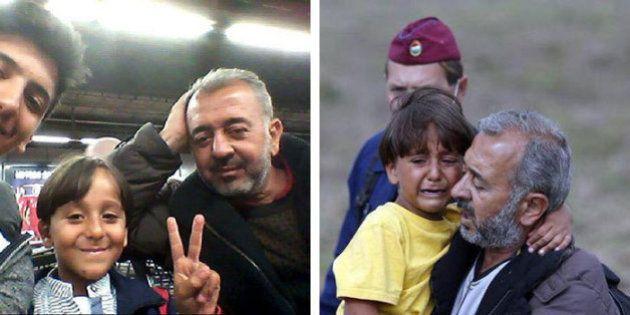 Profughi, migliaia di arrivi. Osama, preso a calci dalla giornalista, ce l'ha fatta: ecco il selfie con...