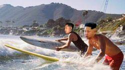 Kim Jong Un si dà al surf. Grazie a un