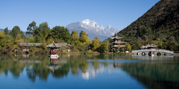 Lijiang's Black Dragon Pool park, China. (Photo by: Universal Images Group via Getty Images)