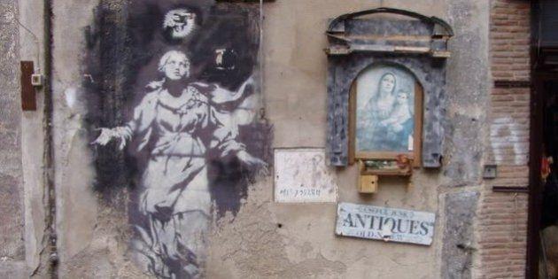La Madonna con la pistola, l'unica opera italiana di Banksy è stata salvata: a segno la petizione su