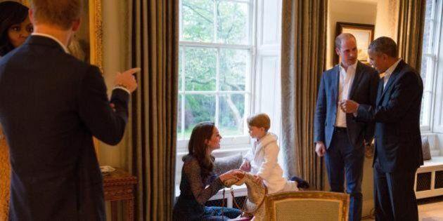 Il piccolo George rimprovera Harry per il suo