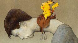 Al guinzaglio dei Pokemon: un'illustrazione per dire che non è più solo un