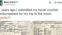 Il rimborso spese di Buzz Aldrin per andare sulla Luna è